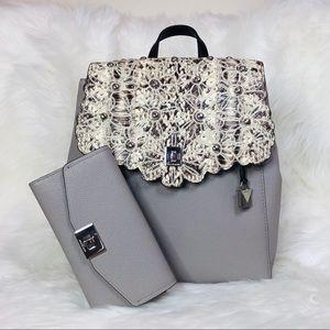 2PCS Michael Kors Cassie Backpack Wallet Set
